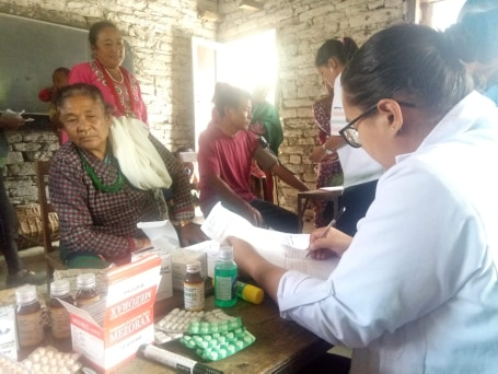 Free Mini Health Camp was held at Darga Basic School, Doramba  - 4, Ramecchap District